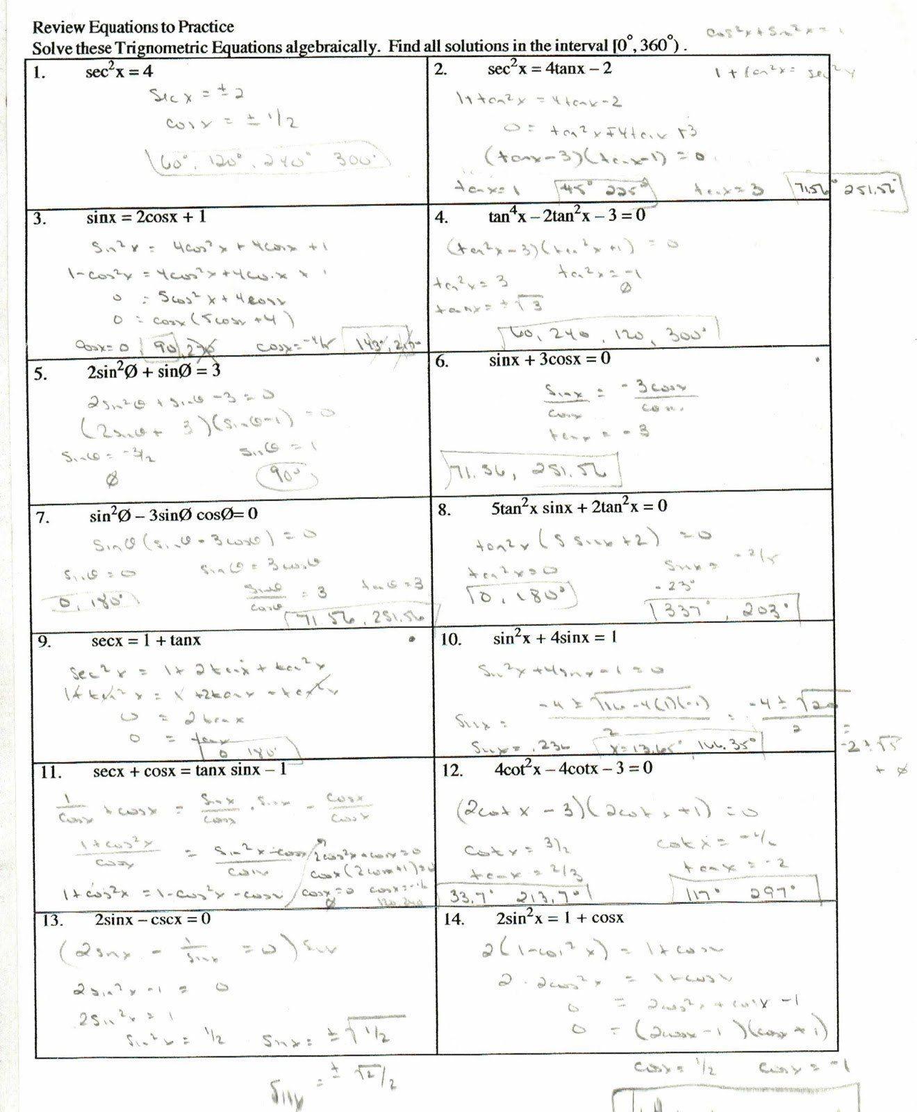 Verify Trig Identities Worksheet Trig Identities Worksheet Worksheet Template Word Problem Worksheets Worksheets