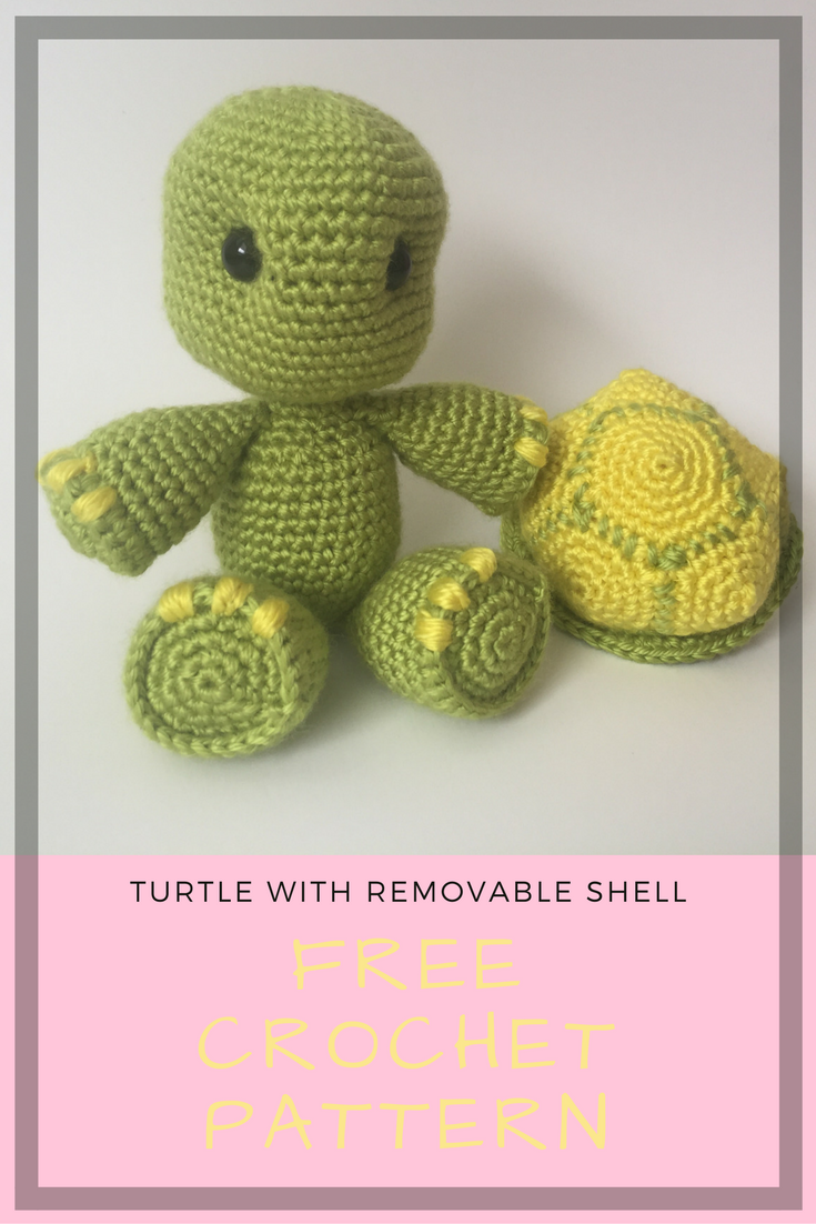 Crochet Turtle with Removable Shell Pattern | amigurumi | Pinterest ...