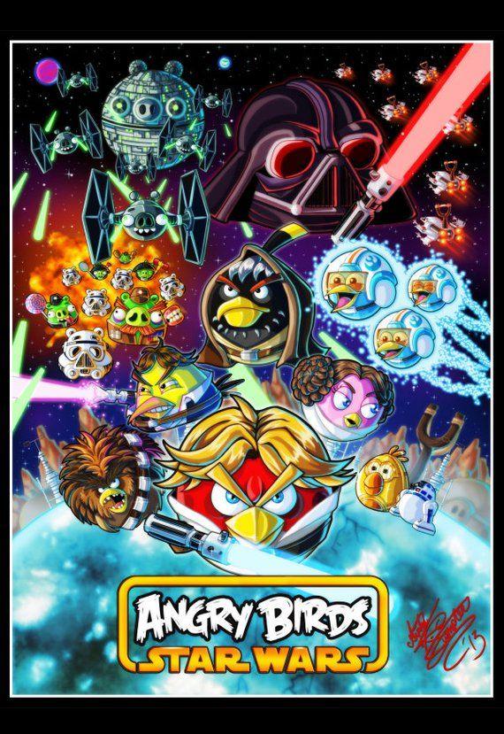 Angry Birds Star Wars Art Print Dibujos Personajes De Juegos