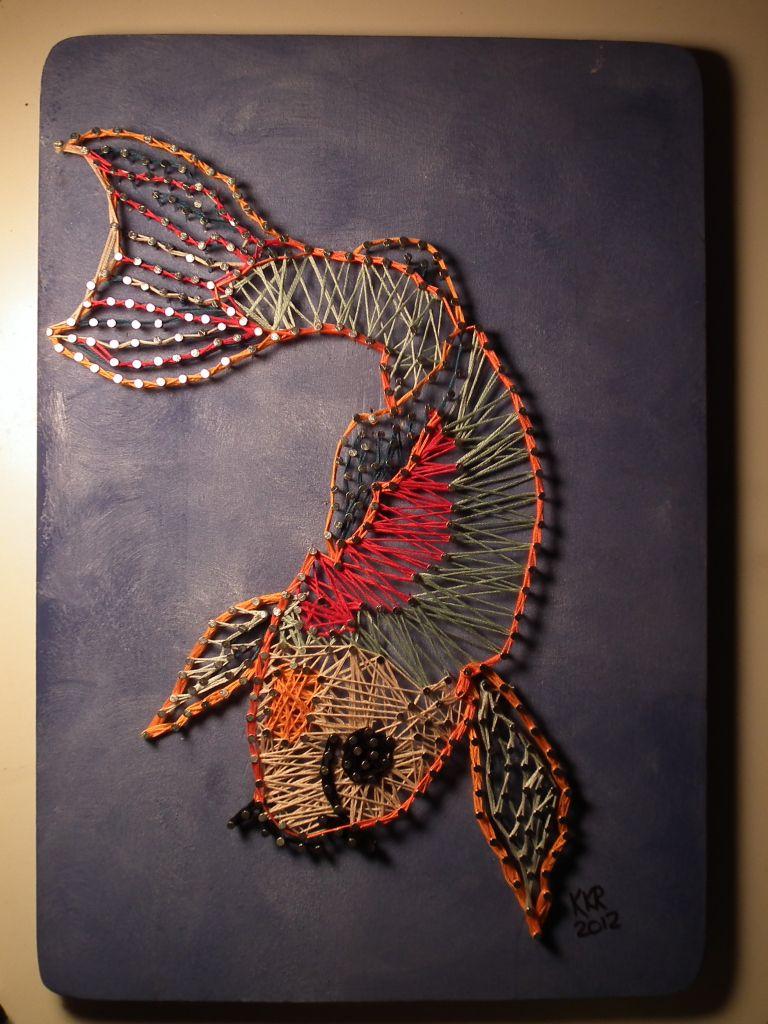 Nail And String Art On Wood String Art Pinterest String Art