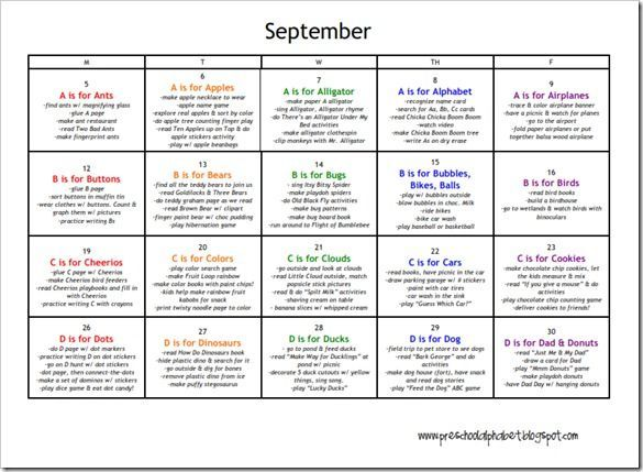Calendar Design For Preschool : Printable calendars a calendar for each month with