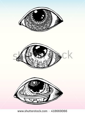 Drawn Human Eyes Line Art Black And White Drawing By Hand Doodle Tattoo Set Egypt Tattoo Human Eye Drawing Eye Drawing