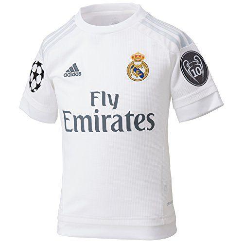 Para niños de Adidas camiseta real Madrid UCL réplica de la casa ...