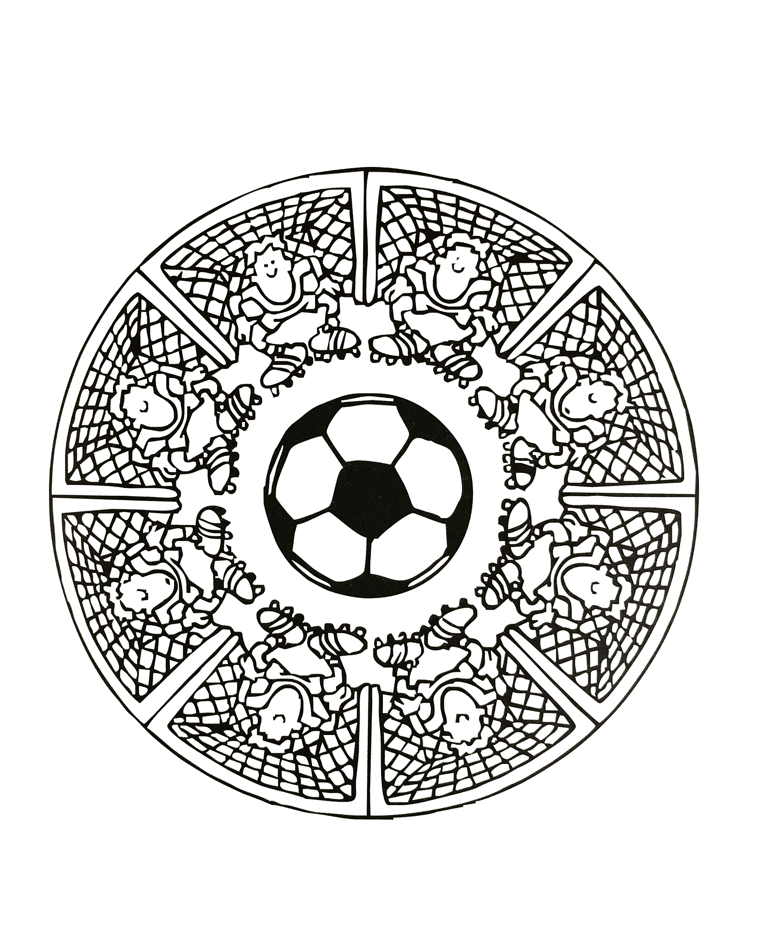 free mandalas page mandalas foot football mandala coloring page for beginners artsy fartsy. Black Bedroom Furniture Sets. Home Design Ideas