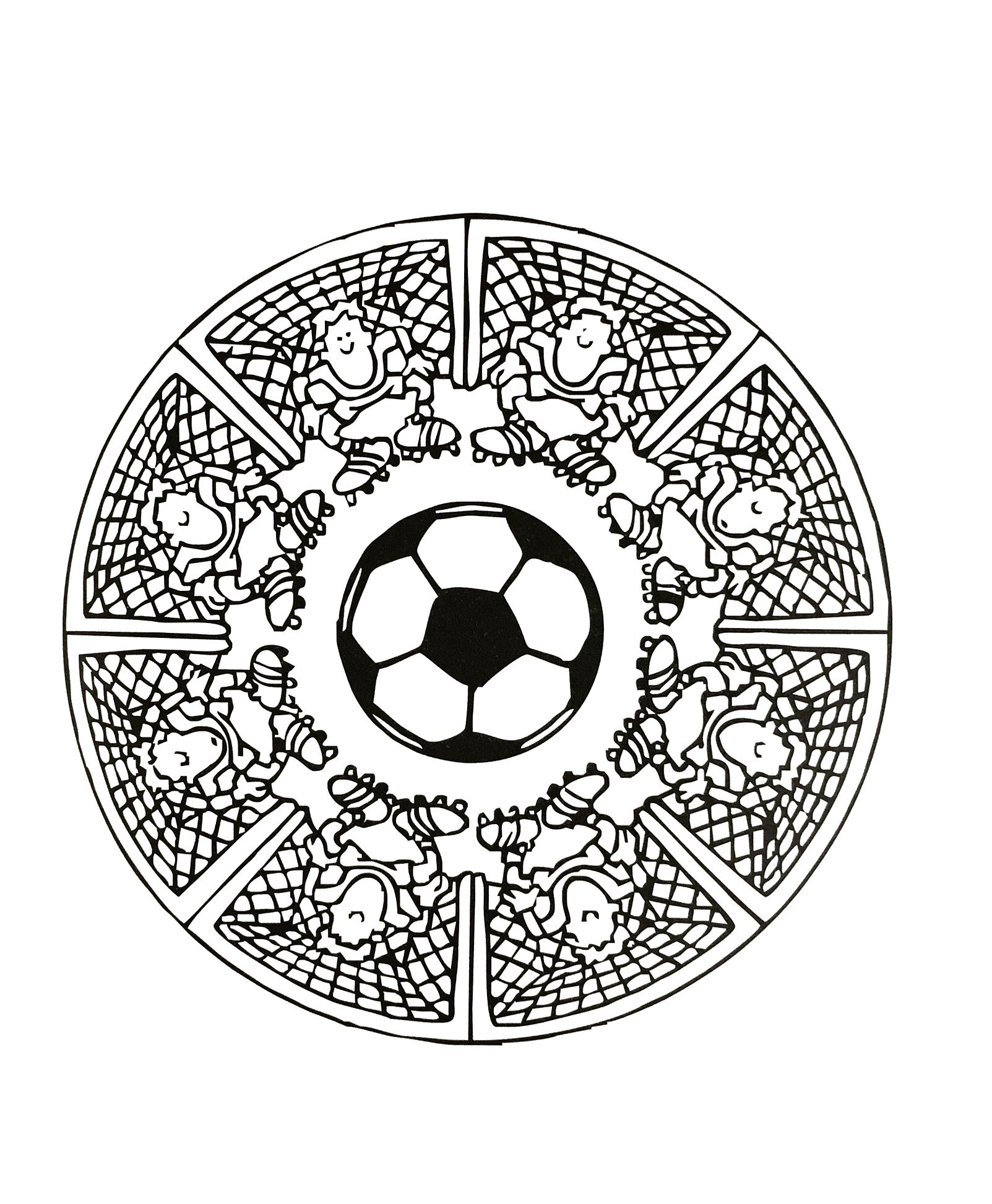 Free Mandalas page «mandalas-foot». Football Mandala coloring page ...