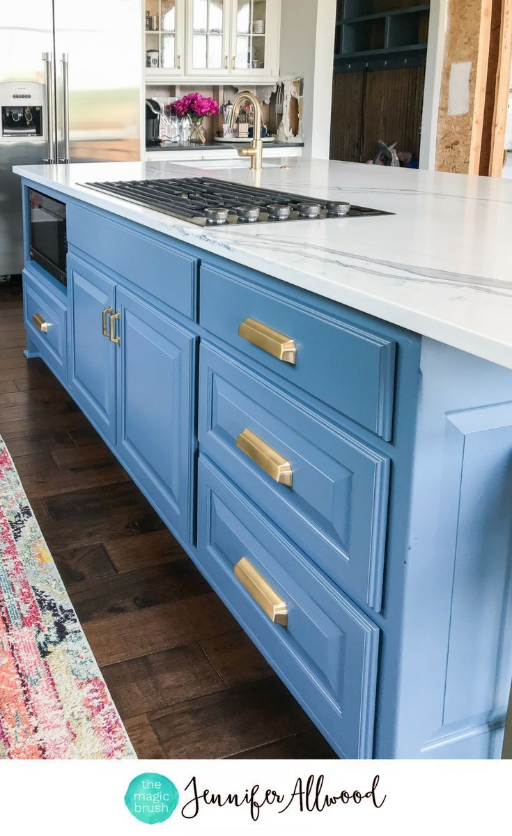 How to's : Blue Kitchen Island by Jennifer Allwood / Magic Brush Inc. #kitchenisland #kitchen #kitchens #kitchenremodel #kitchenideas #homedecor