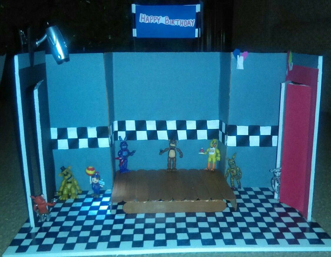 Diy Five Nights At Freddy S Show Stage Crafts For Boys