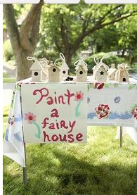 Possible bday idea *paint a fairy house*