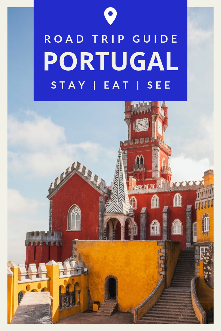 Portugal Itinerary - The Ultimate Road Trip Route | The ultimate road trip guide to Portugal. Hop in the car and drive through iconic destinations like Palácio da Pena in Sintra and Praia De Santa Marta. Packed full of stunning beaches, local restaurants and vibrant culture, you'll want to book a trip asap! | Wowanders #PortugalRoadTrip #PortugalTravel #PortugalItinerary | travel to Portugal | things to do in Portugal | Portugal Amazing Places | Portugal Travel Tips #traveltoportugal