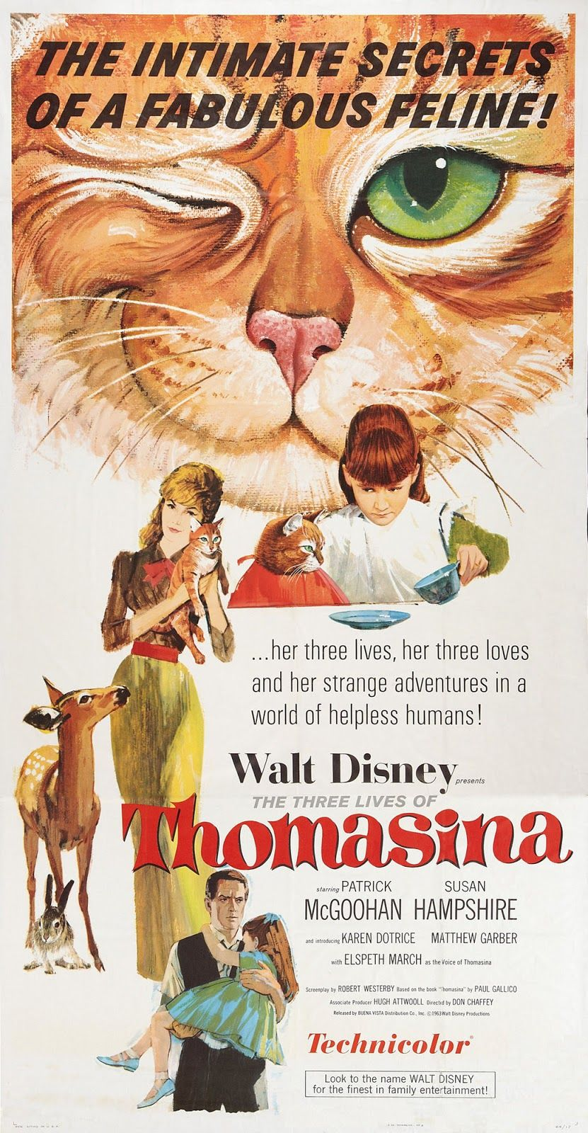 The Three Lives Of Thomasina The Three Lives Of Thomasina Images Pictures Photos Icons And Wallpapers Strange Adventure Disney Posters Disney Live Action