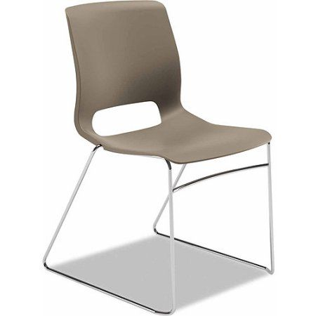 Hon Motivate Seating High-Density Stacking Chair, Set of 4, Silver