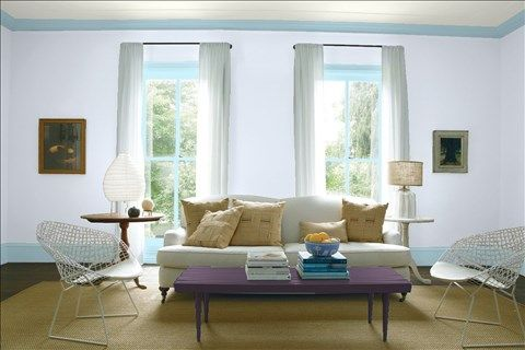 Look At The Paint Color Combination I Created With Benjamin Moore Via Wall White Heaven 2068 70 Trim Mediterranean Sky 1662
