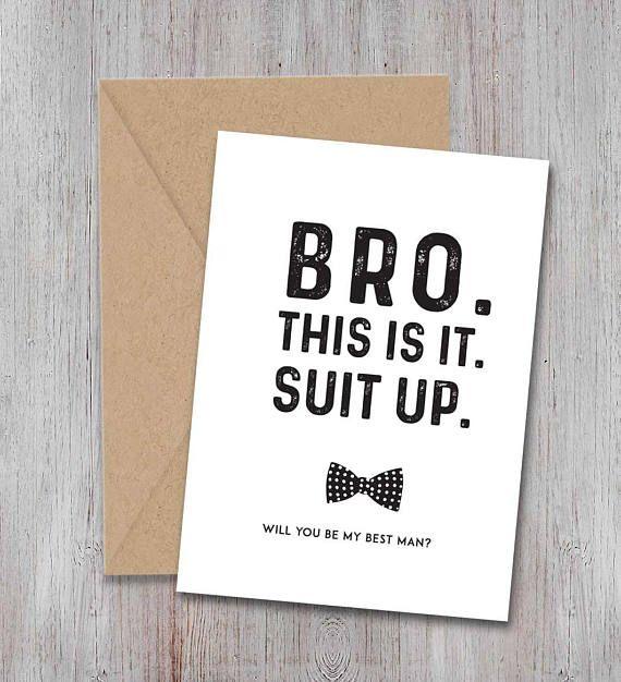 Best Man Proposal Card, Suit Up, Wedding Party Proposal