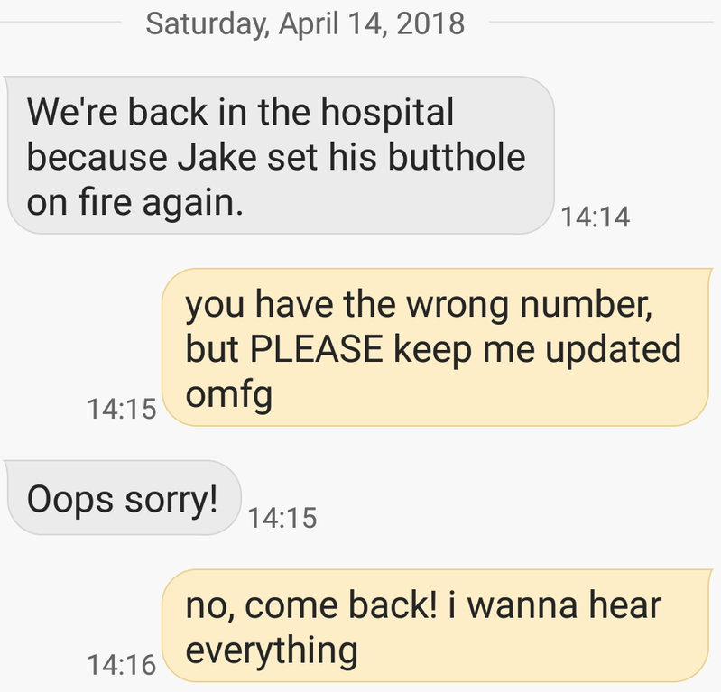 The butthole text: