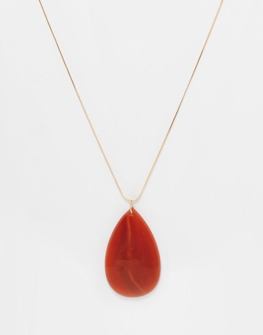 Asos agate long pendant necklace wardrobe pinterest agate