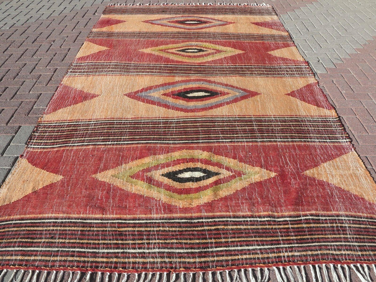 Vintage Turkish Rug Antalya Kilim Woolrugs 74 8 X131