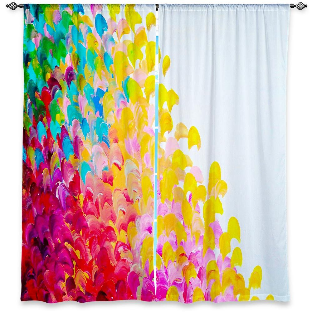 bright nursery curtains for designs colorful papagarden curtain with colored club awesome
