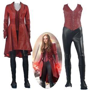 Captain America 3 Civil War Wanda Maximoff Scarlet Witch Cosplay Costume