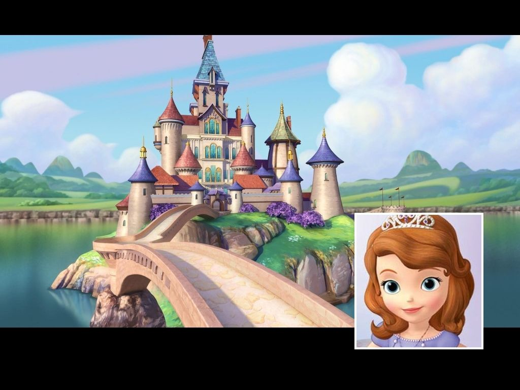 Sofia the First  1024by768 Desktop Wallpaper Enchancia Castle and Sofia .  sc 1 st  Pinterest & Sofia the First
