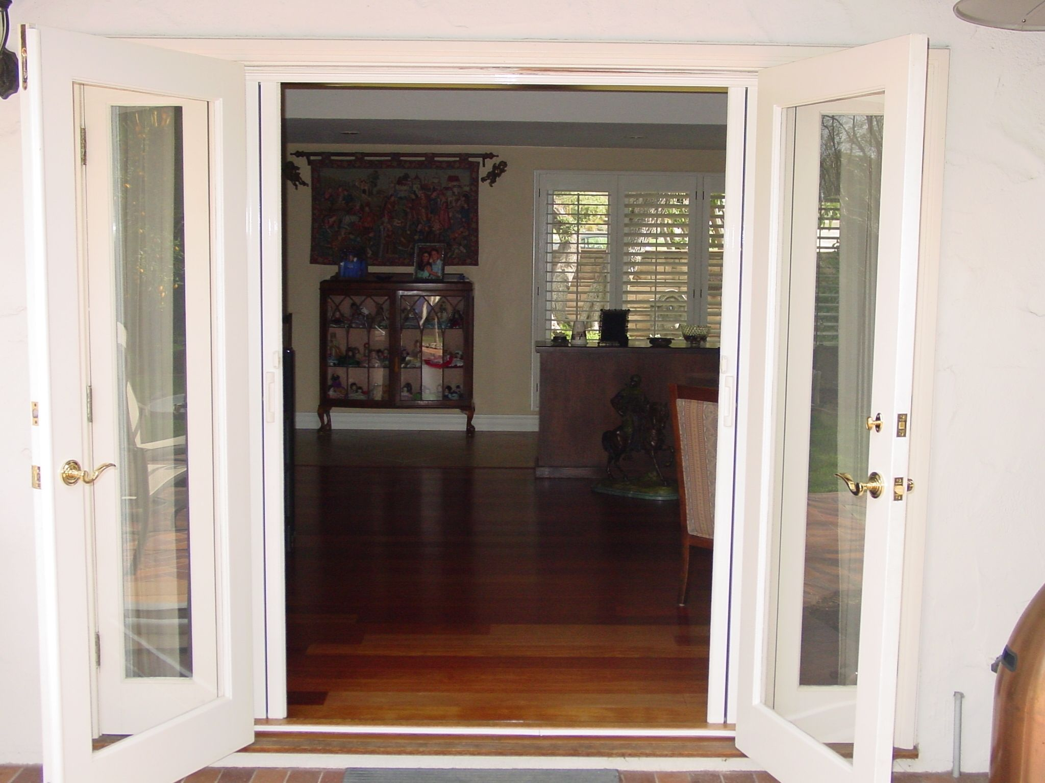 Double outswing exterior french doors french doors
