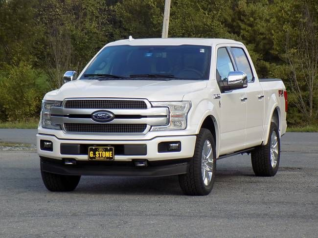2018 Ford F 150 PLATINUM Truck Crew Cab Engine: 3.5L V 6. Oxford WhiteWhite  InteriorsInterior ColorsColor ...