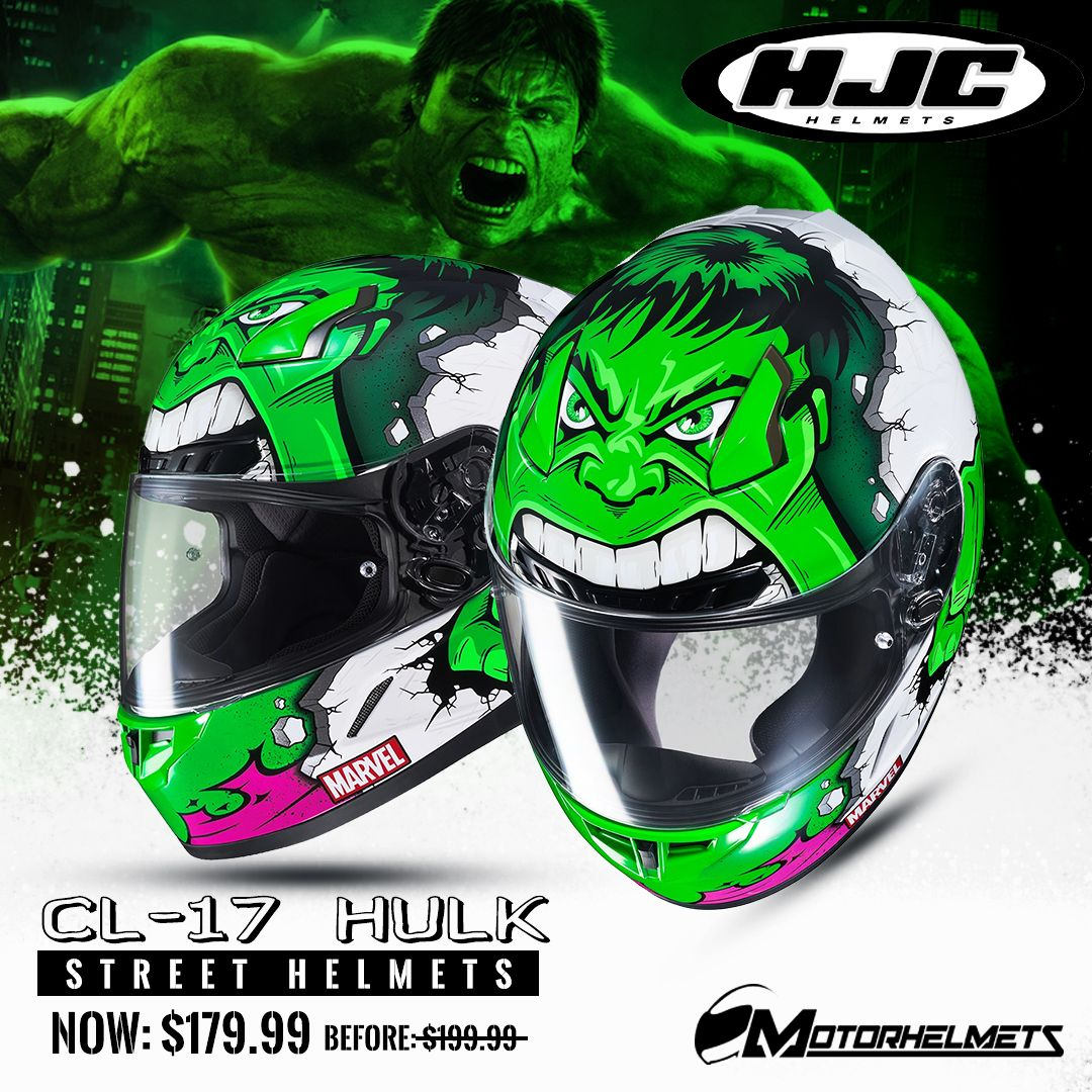 e7fc84b2 Available now at motorhelmets.com The HJC CL-17 Hulk (will protect your