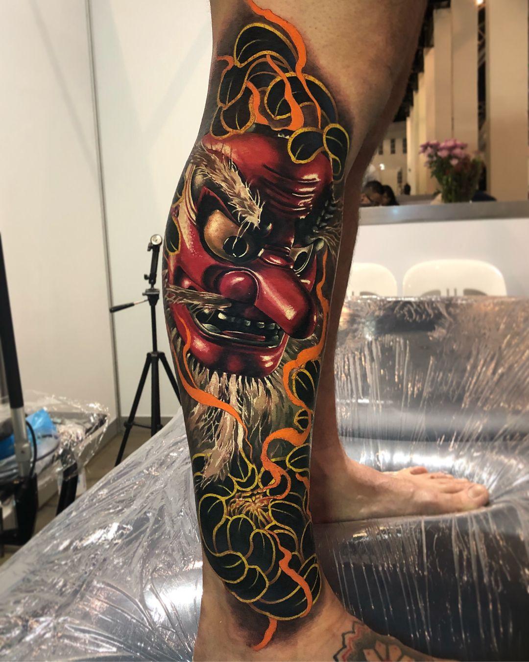 Japanese Mask tattoo by Ben Kaye   tattoos   Pinterest   Japanese ...