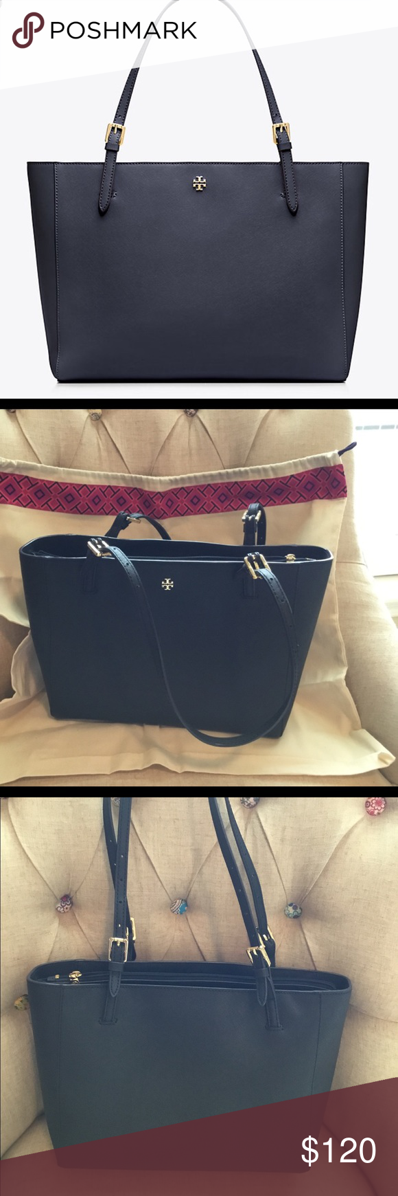 3b6a48163068a6 Tory Burch York Small Buckle Tote Tory Burch York Small Buckle Tote with  dust bag.