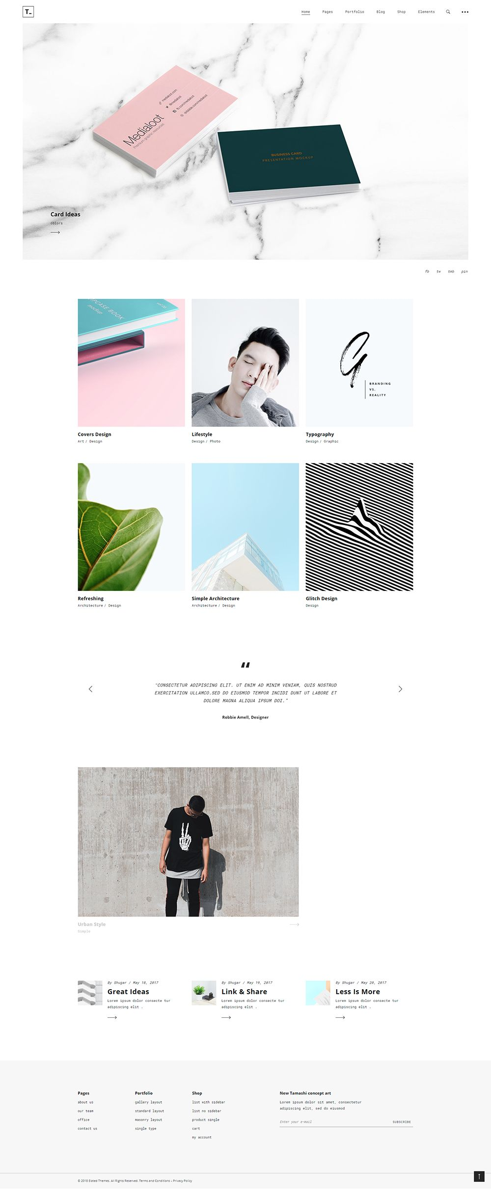 Made by creatives for creatives, Tamashi WordPress theme has it all to showcase your work in a stunning manner. #wordpress #webdesign #wordpresslove #webdesigninspiration #design #layout #branding #designideas #responsive #uxdesign #uidesign #pastel #pastelmood #creative #colormood #pastelcolorpalette