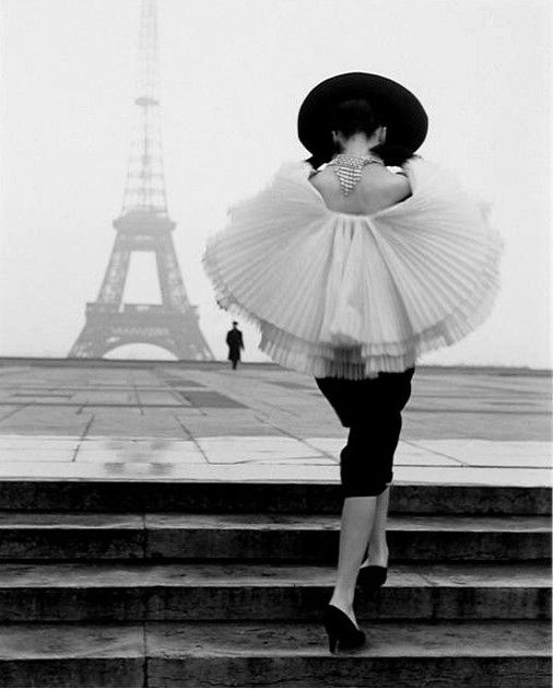 Un modelo en París en la década de 1950.