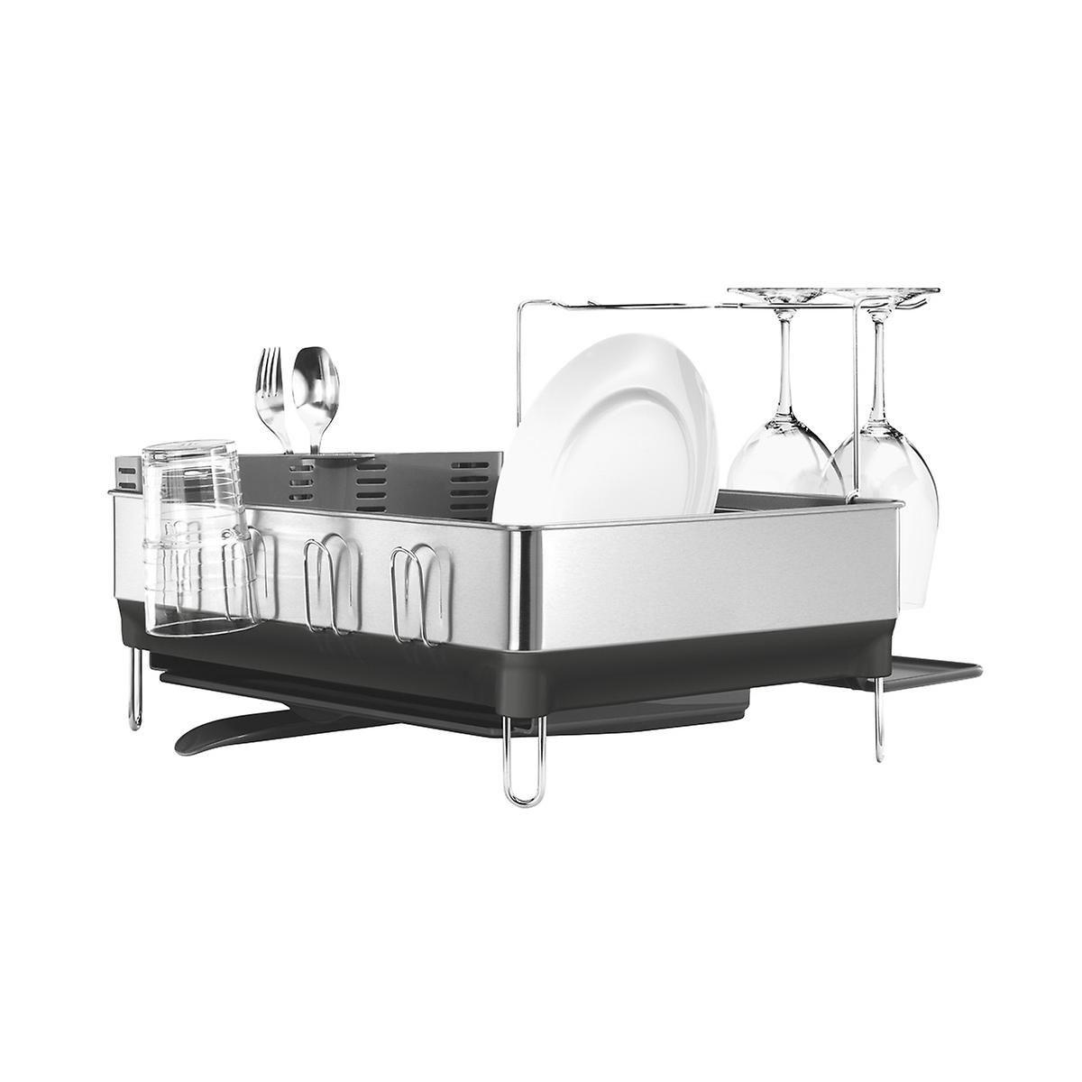 Simplehuman Stainless Steel Frame Dish Rack Wine Glass Holder