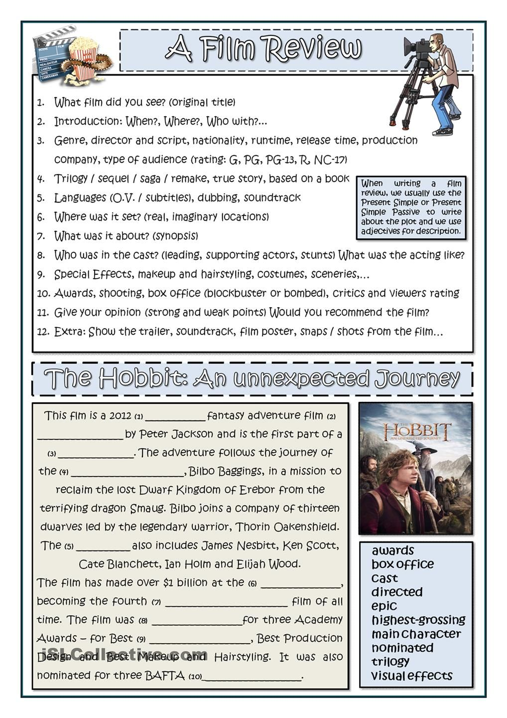 Uncategorized Movie Worksheets how to write a film review worksheet of the day on june 19 2015 2015