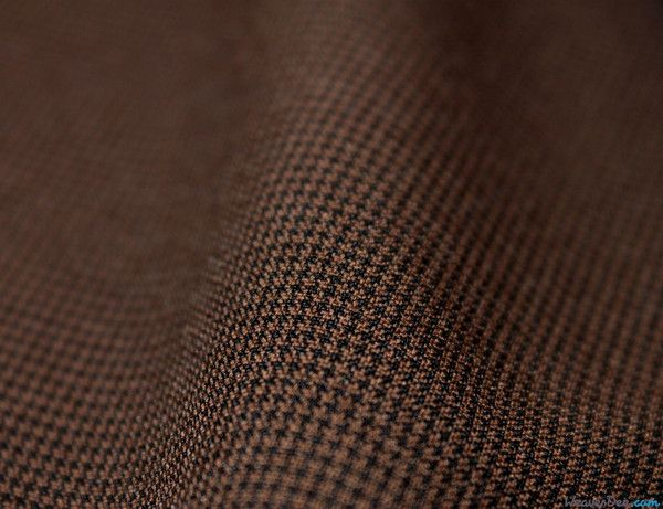 Brown Houndstooth Suiting Fabric - WeaverDee.com