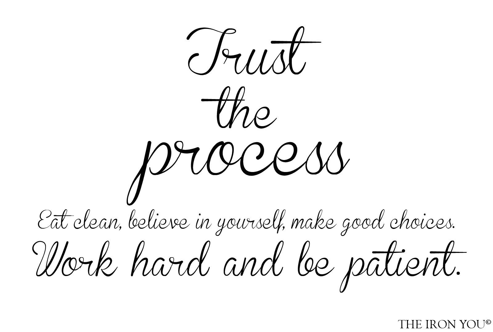 Quotes, Trust The Process