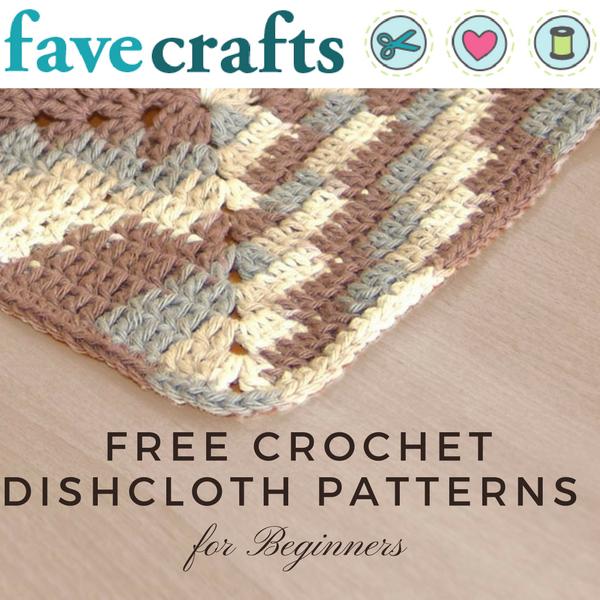 18 Free Crochet Dishcloth Patterns For Beginners Crochet Dishcloth
