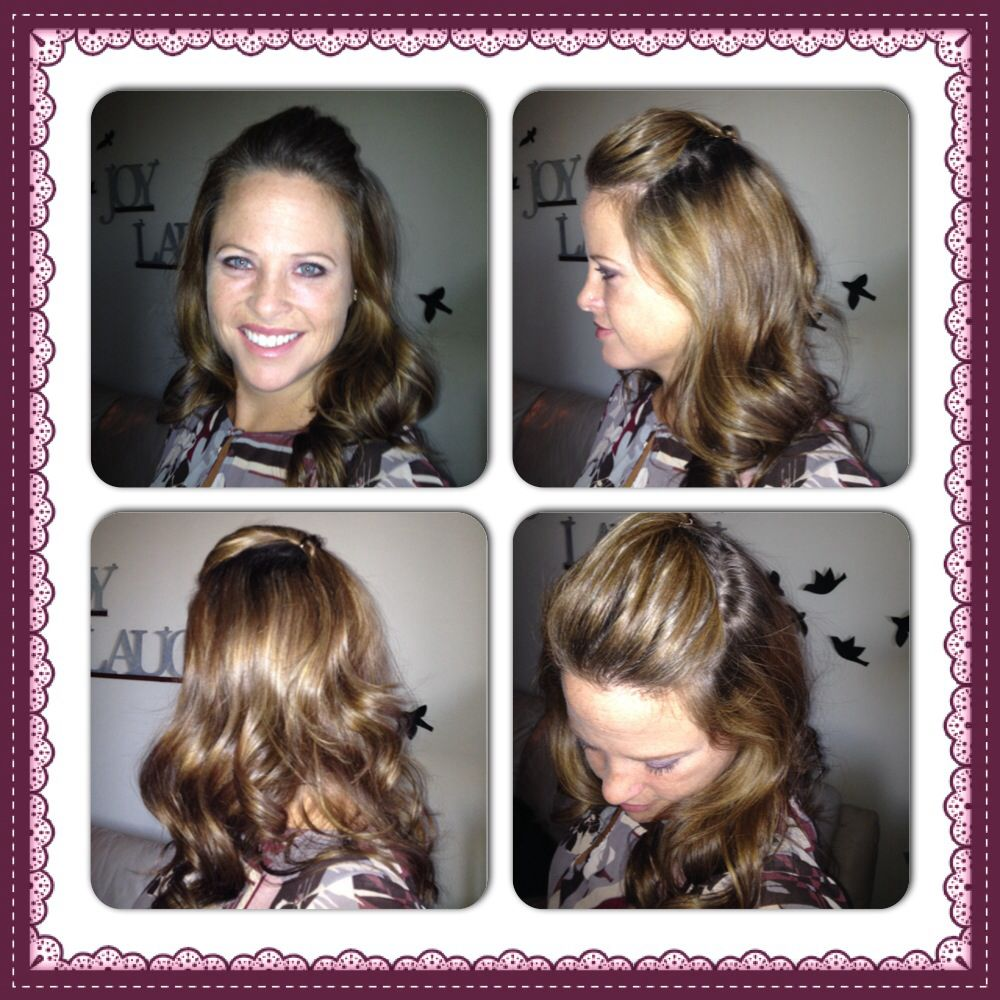 Easy curls with some poofy bangs go look on my