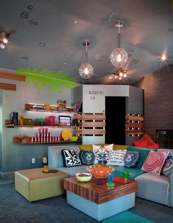 les 25 meilleures id es de la cat gorie salles de jeux pour adolescents sur pinterest salle de. Black Bedroom Furniture Sets. Home Design Ideas