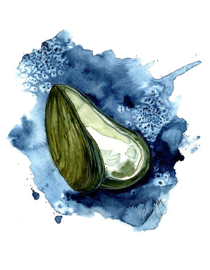 Cape York Art – Freshwater Mussel Shell I lino print