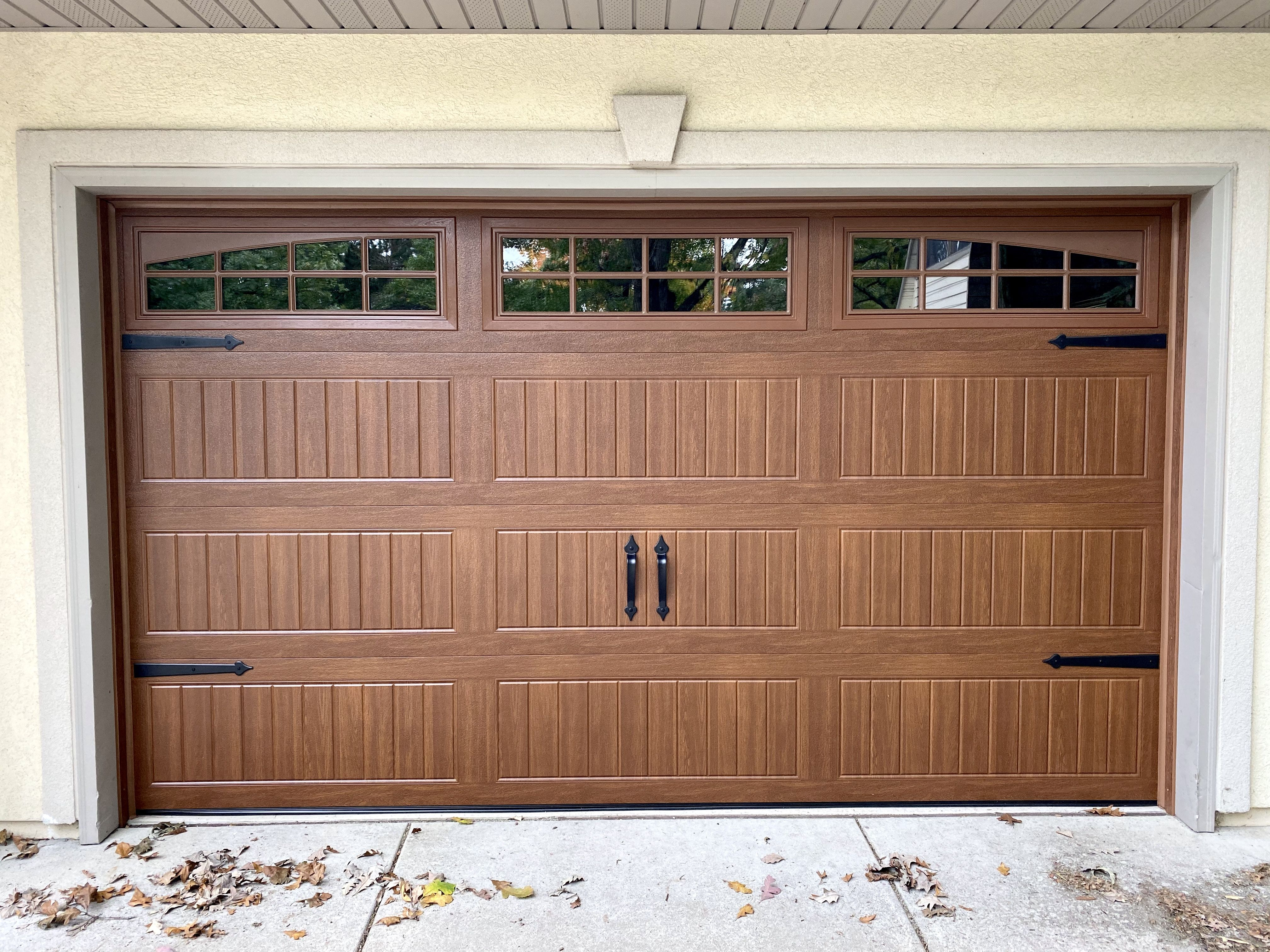 Wayne Dalton Model 8300 Garage Door In Golden Oak Installed By