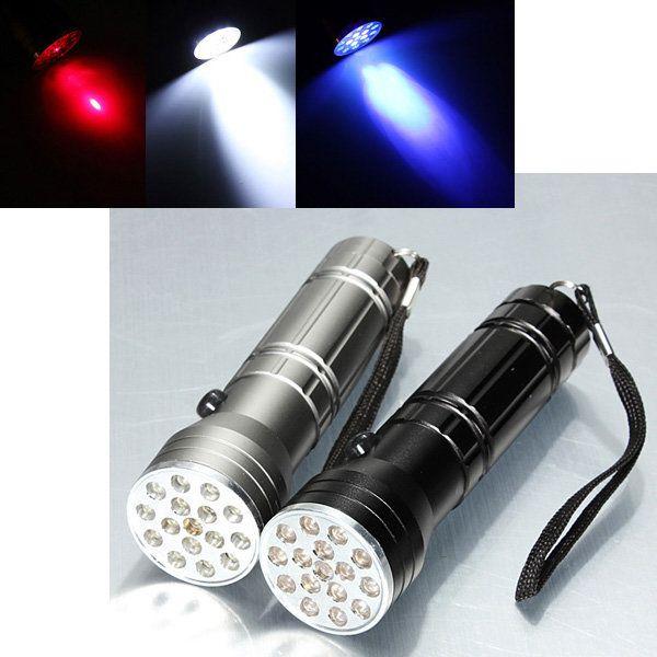 15 Led 3 Modes Uv Laser Ultraviolet Led Flashlight 3x Aaa Avec