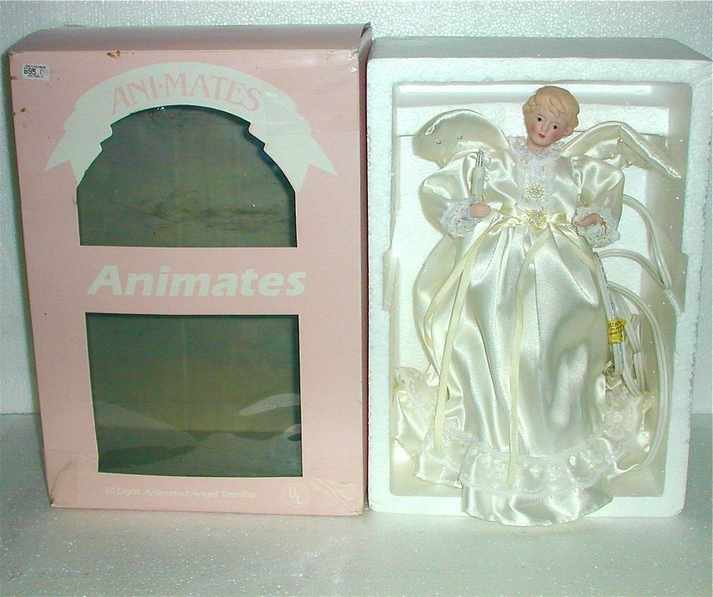 This is a vintage animates animated light up angel