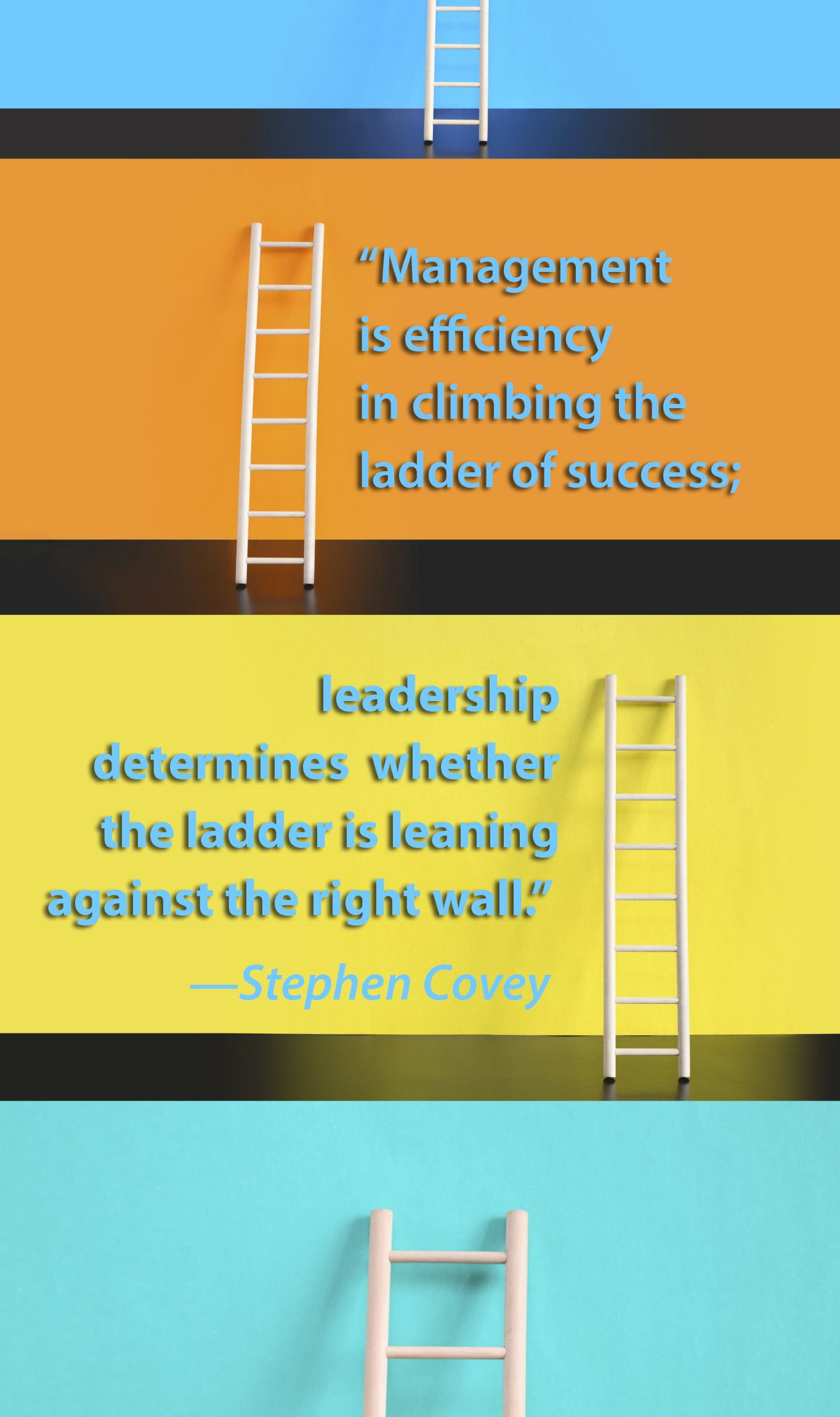 Management Is Efficiency In Climbing The Ladder Of