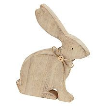 Buy John Lewis Standing Wooden Rabbit with Bow Online at johnlewis.com