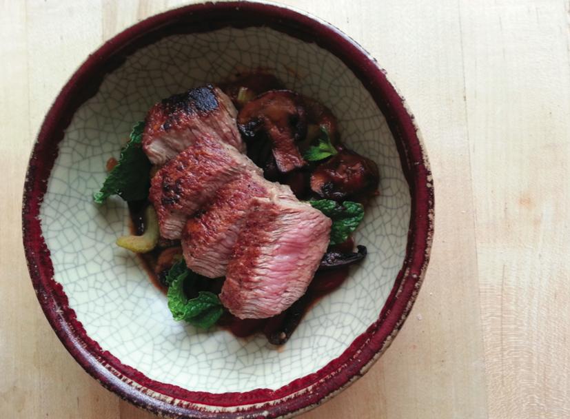 recipe: flank steak with mushroom ragout [27]