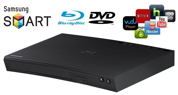 Samsung Blu Ray Dvd Disc Player With Built In Wi Fi For Streaming Youtube Netflix Pandora Amazon More Experience Your Movie Samsung Dvd Streaming Media