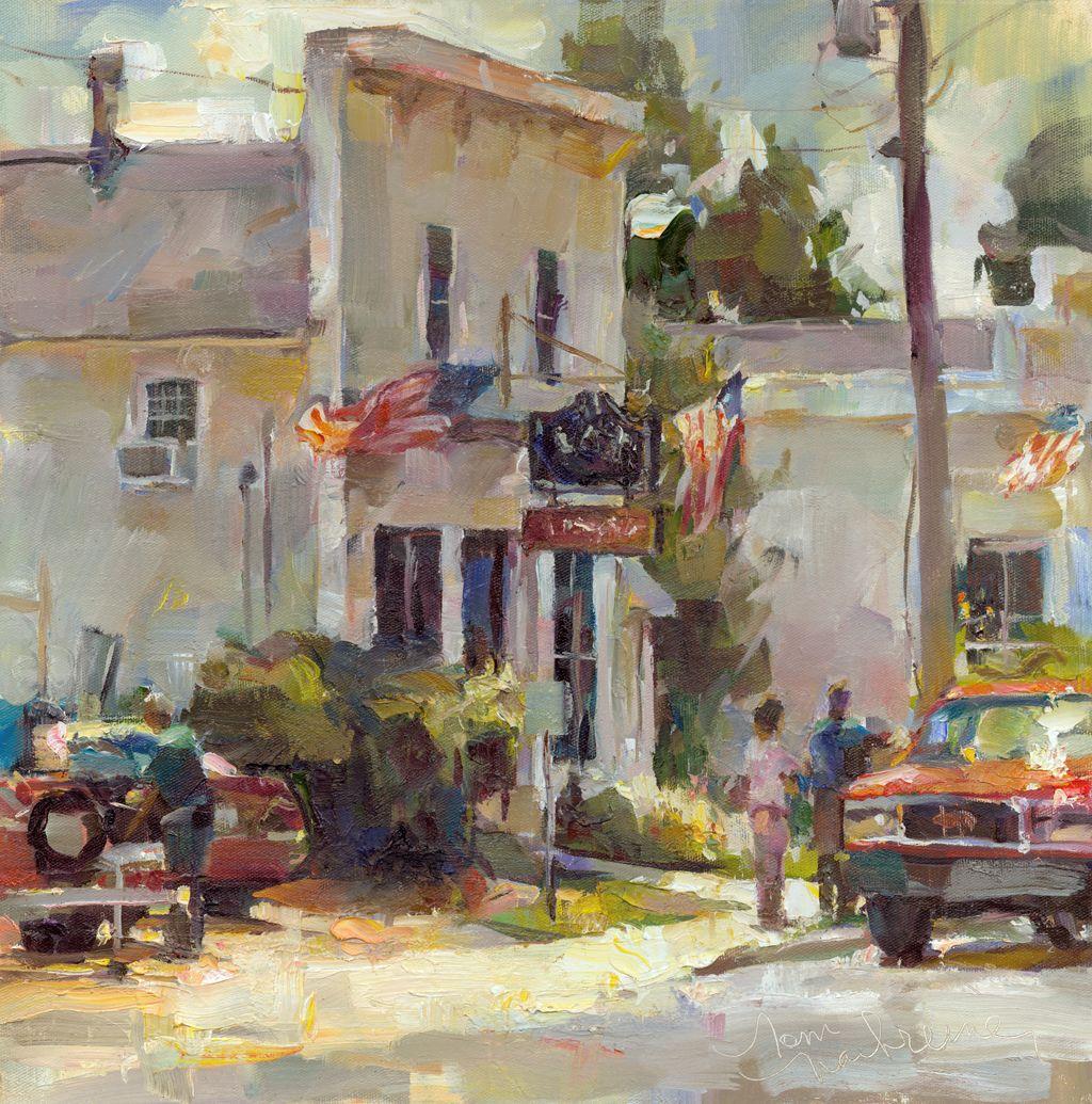 Baileys harbor noon web painting art impressionist