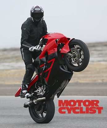 Associate Editor Zack Courts On An  FI TrackStunt Bike