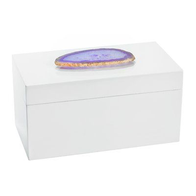 Mercer41 Agate Lacquered Jewelry Box Large Jewelry Box Ballerina Jewelry Box Wooden Jewelry Boxes