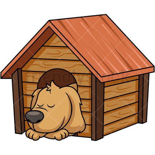 Doggy Sleeping Inside Dog House Dog House Inside Dog House Bed