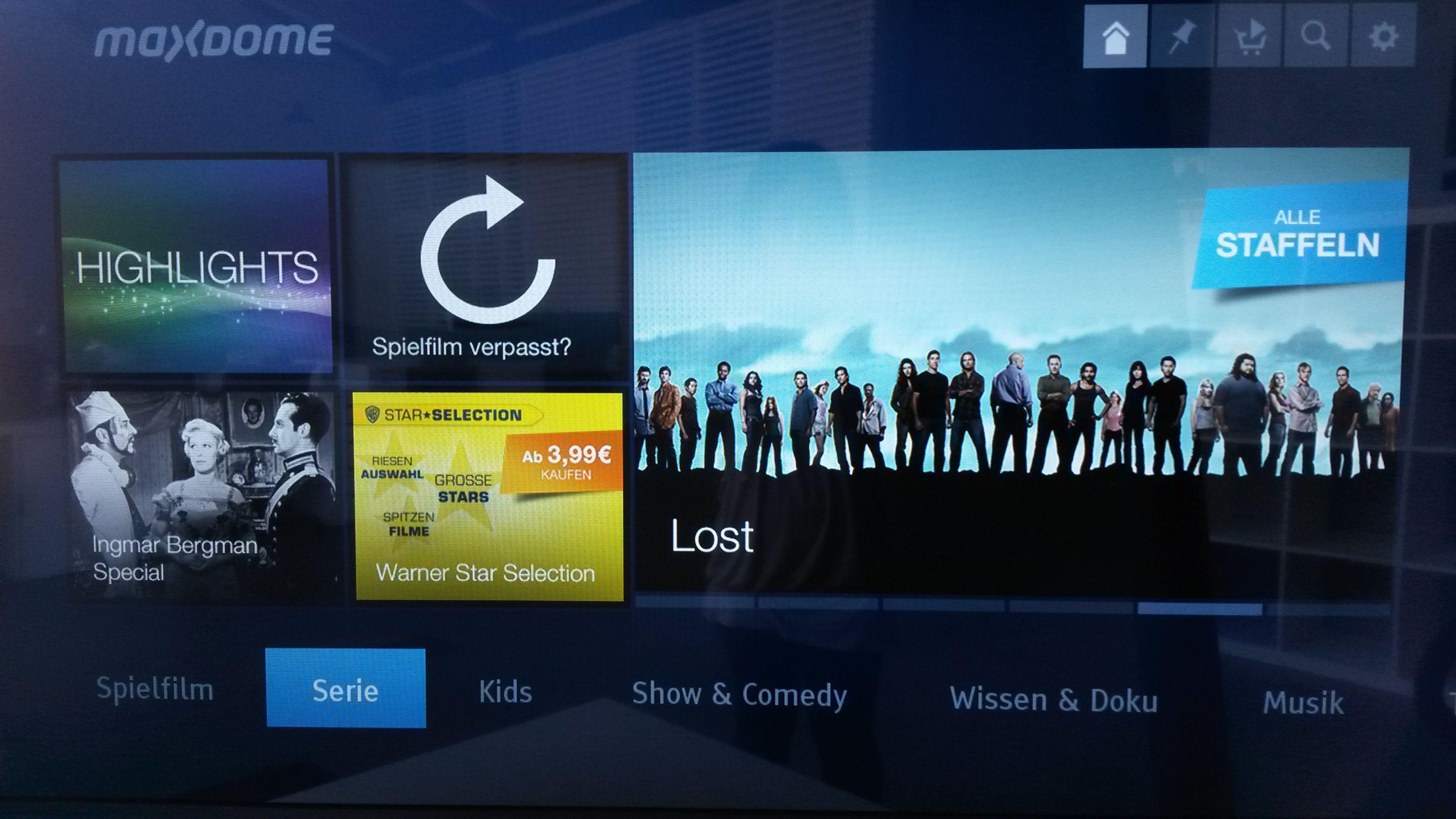 Maxdome LG 2014 Series Übersicht Smart tv, User
